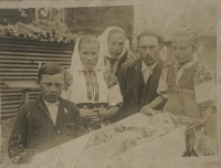 old family photo, a childs funeral