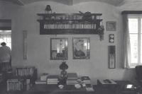 Interiér na Hrádečku, konec 80. let