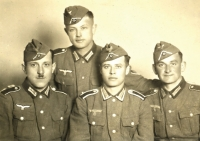 Franz Josef Strobl v uniformě wehrmachtu (cca 1940)