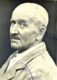 Johann Strobl, foto z vysídlovacích dokladů (1946)