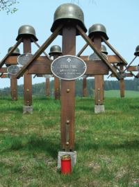 Hrob Franze Strobla v rakouské obci Sankt Jakob im Walde