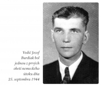 driver Jozef Burdiak was one of the first victins of the German attack on 25th September 1944