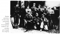 a group of partisans from the II. Slovak partisan brigade of M.R.Stefanik ( later II. Slovak national partisan brigade of K.K.Popov)