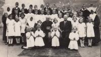 První přijímání v klášteře sester sv. Vincence, 1948