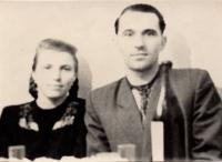 1956, Baley. Wedding photo of Julia's parents - Stets Ivan Mykolayovych and Stets (Dzibchak) Paraskoviya Yuriyivna, special settlement, Baley