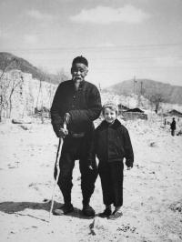 Hana Hamplová v Číně roku 1957