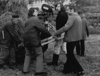 Natáčení filmu Sirius režiséra Františka Vláčila, na němž Hana Hamplová působila jako asistentka kamery (1973).