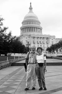 Hana Hamplová ve Washingtonu roku 1992