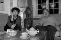 Hana Hamplová doma s manželem Josefem Hamplem (2006)
