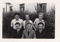 Maksymovych (standing in the middle) with his comrades