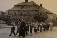Světlá nad Sázavou, Karel Exner se svými žáky, 60. léta