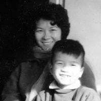 Tuan Nguyen s matkou, Varšava, cca 1965