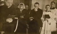 Primice 4. června 1944, loučení s rodiči