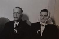 Rodiče Karel a Anna Exnerovi,  1944