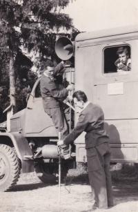 Radiovůz Jaselská kasárna, 1958