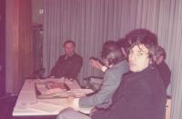 Jára Kohout (z USA) na besedě ve Frankfurtu, zač. 80. let