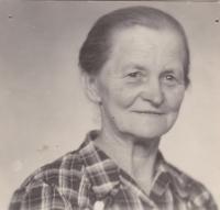 Anna Rückerová, maminka pamětnice