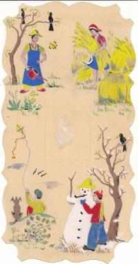 Kresba Martina Welse - Čtyři roční období