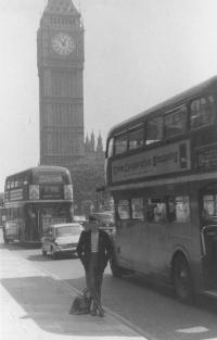 Z dvouměsíčního pobytu v Anglii. Londýn, Big Ben 1966