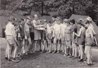 Miloš na pionýrském táboře v České Kamenici, 1958