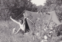 Miloš na své první cestě do zahraničí, Maďarsko 1966