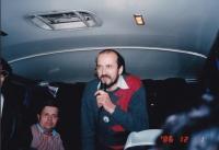 Miloš jako průvodce v autobuse, 1986