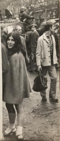 Pavla Alter několik dnů po 21. srpnu 1968 v Praze
