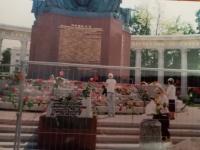 U památníku Rudé armády ve Vídni