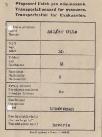 Transportzettel für Evakuanten
