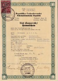 Heimatschein, Hermann Adler