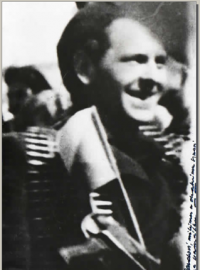 Jaroslav Šebík Sr. after the liberation of Vizovice in 1945