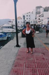 Podvečer v přístavním městě Pigadia, Řecko