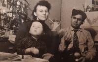 S manželkou a dcerou v 60. letech