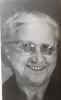 Antonie Maláčová, portrét matky pamětníka, asi 1958