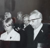 Vlastislav Maláč ve sboru Evangelické církve metodistické, Praha 1978