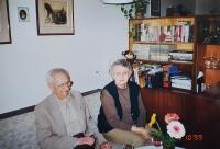 Se švagrovou Marian v Praze 1999