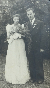 Svatební foto Josefa Růžičky s manželkou