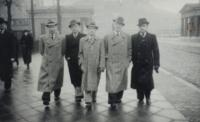 Dědeček s přáteli z internátu (p. Růžička)