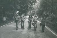 Vítkov – Podhradí, 1980, Miroslav Marusjak druhý zprava