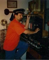 Miroslav Marusjak jako signalista Českých drah, 1992