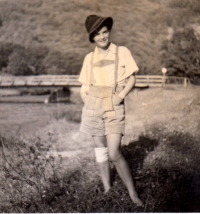 Anna Brandlová, teta pamětnice, která byla po válce odsunuta