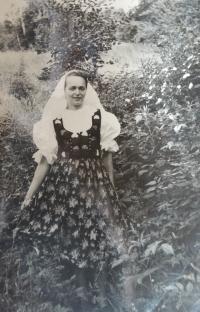 Jiřina Fárková z Horní Bečvy, 1961