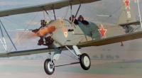Sovětský dvouplošník 'Kukuruznik', který viděl Jindřich Souček 9. května 1945 nad Chrástem