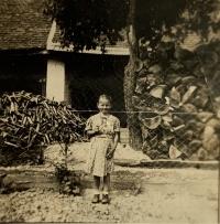 pamätníčka Helena Aková ako dievčatko v období druhej svetovej vojny