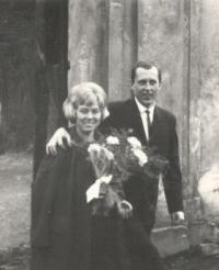 Svatba Jana Prühera s manželkou Janou - Zlatá Koruna 1966