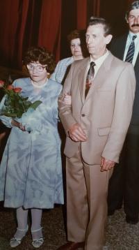 František s třetí manželkou Anežkou