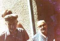 Dědeček a babička z matčiny strany, Fiľakovo, asi 1983