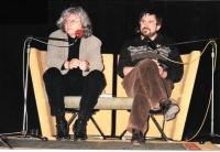 Na Festivalu spisovatelů s Péterem Esterházym, Praha 1999