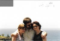 Na Kanárských ostrovech s manželkou a dcerou, 2004