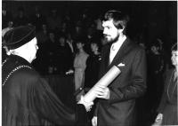 Promoce při udělování titulu PhDr., Praha Karolinum 1987